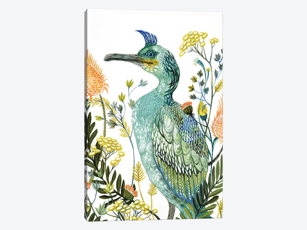 Green Bird by Lesia Binkin 1-piece Canvas Print