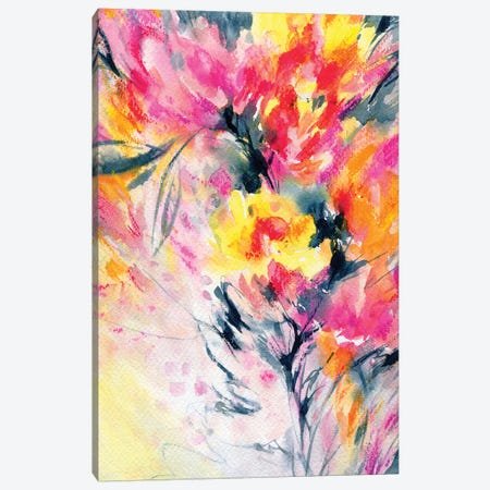 Happy With You Canvas Print #LES115} by Lesia Binkin Canvas Art