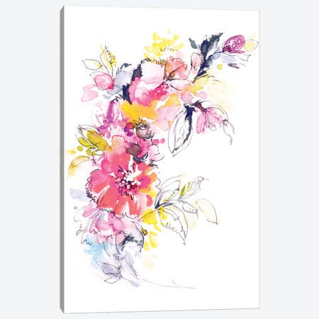 In My Garden Canvas Print #LES12} by Lesia Binkin Canvas Art