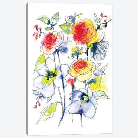 Jenna Canvas Print #LES13} by Lesia Binkin Canvas Art