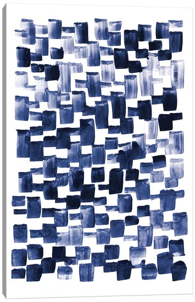 Blue Rain I Canvas Art Print