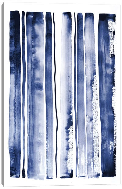 Blue Rain II Canvas Art Print