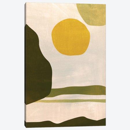 Green Fields Canvas Print #LES157} by Lesia Binkin Canvas Art