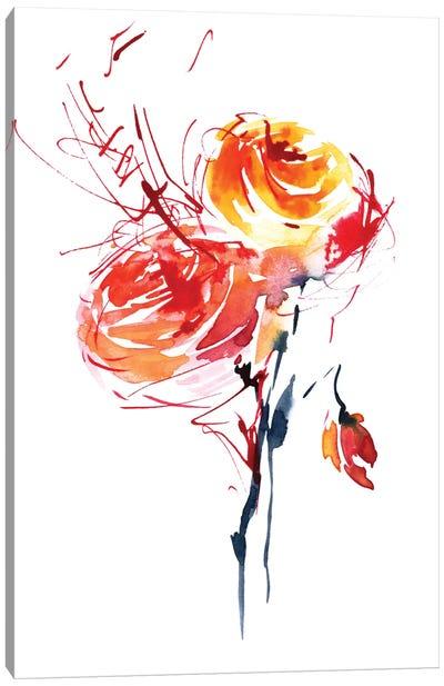Red Splash Canvas Print #LES16