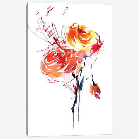 Red Splash Canvas Print #LES16} by Lesia Binkin Canvas Print