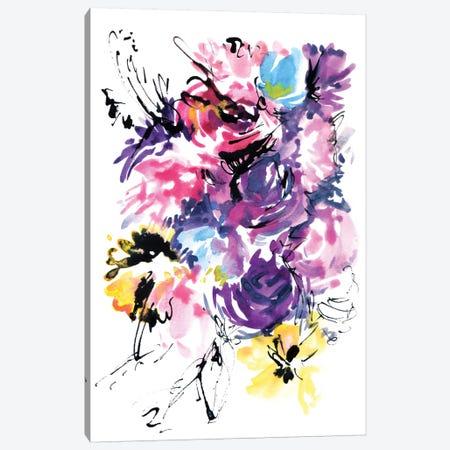 Rurple Rain Canvas Print #LES17} by Lesia Binkin Canvas Print