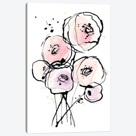 Pink Mod 2 Canvas Print #LES199} by Lesia Binkin Canvas Print