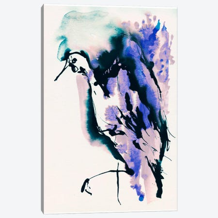 Blue Bird Canvas Print #LES27} by Lesia Binkin Canvas Wall Art