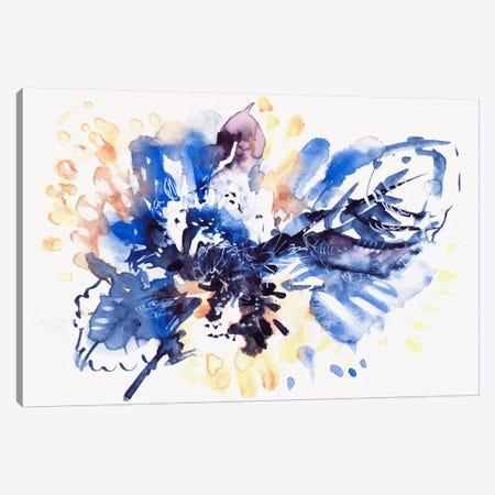 Blue Leaves Canvas Print #LES29} by Lesia Binkin Art Print
