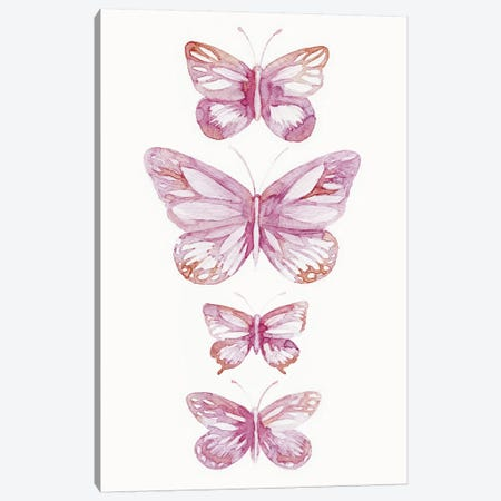 Butterflies Canvas Print #LES31} by Lesia Binkin Canvas Art