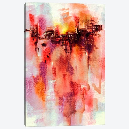 City Sunset Canvas Print #LES32} by Lesia Binkin Canvas Art