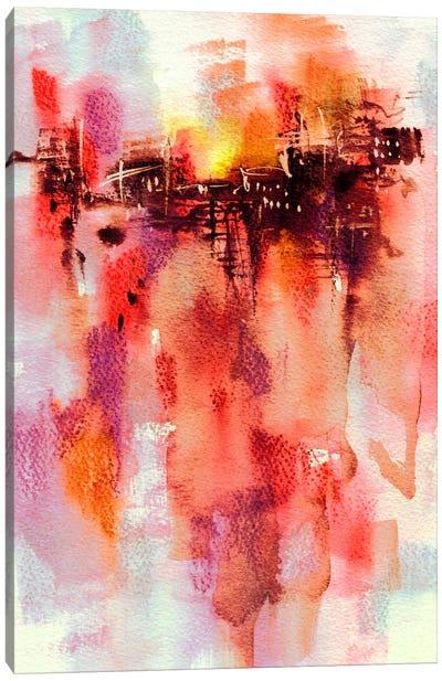 City Sunset Canvas Art Print