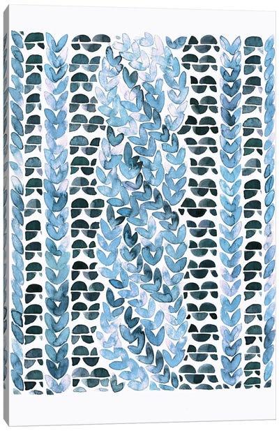 Blue Pattern Canvas Print #LES3