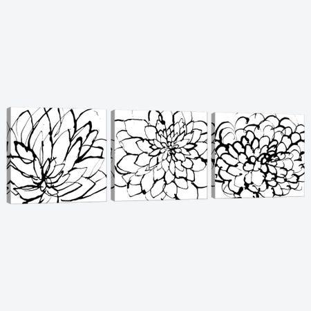 Gardens Triptych Canvas Print Set #LES3HSET001} by Lesia Binkin Canvas Art