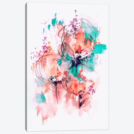 Flower Fire Canvas Print #LES42} by Lesia Binkin Canvas Print