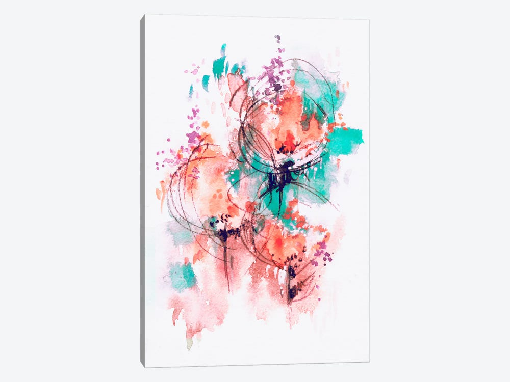 Flower Fire by Lesia Binkin 1-piece Canvas Print