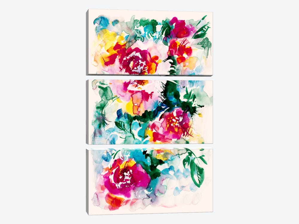 Lake Of Colors by Lesia Binkin 3-piece Art Print