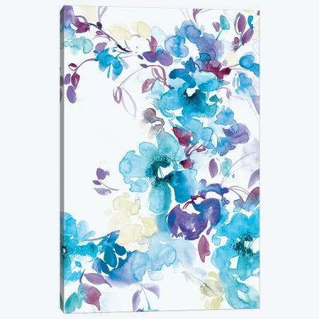 Blue Bouquet I Canvas Print #LES74} by Lesia Binkin Art Print