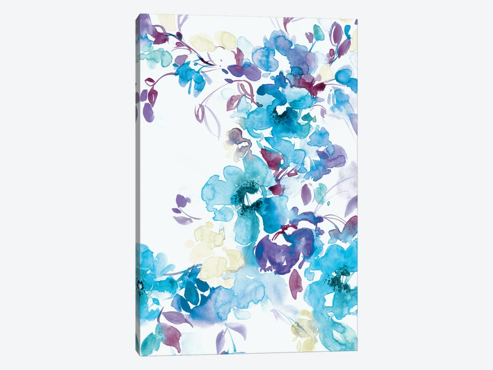 Blue Bouquet I by Lesia Binkin 1-piece Canvas Artwork