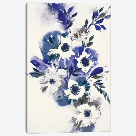 Blue Bouquet II Canvas Print #LES75} by Lesia Binkin Art Print