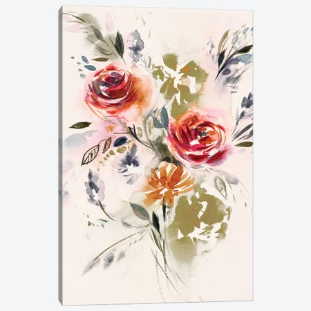 Bouquet 3-Piece Canvas #LES76} by Lesia Binkin Canvas Art Print