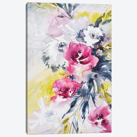 Colorful Bouquet I 3-Piece Canvas #LES77} by Lesia Binkin Canvas Art Print