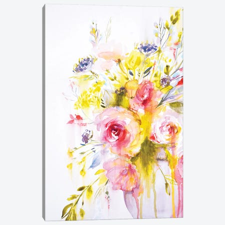 Colorful Bouquet II Canvas Print #LES78} by Lesia Binkin Canvas Art