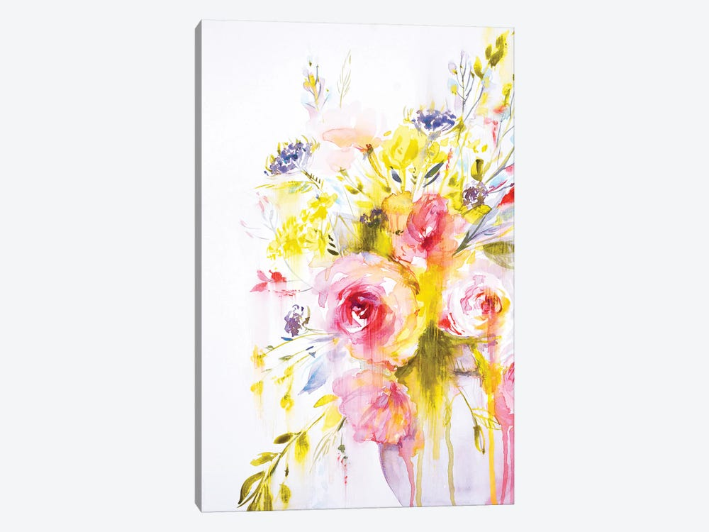 Colorful Bouquet II by Lesia Binkin 1-piece Canvas Art
