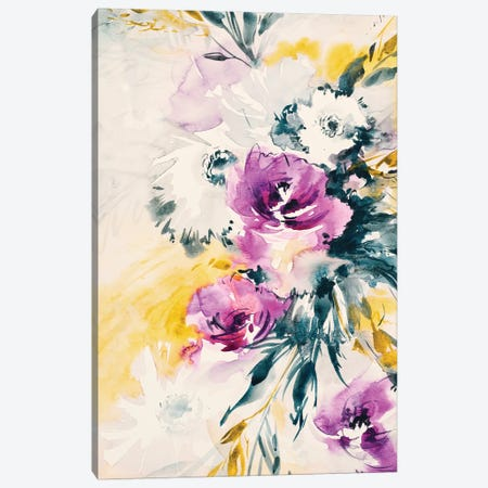 Colorful Bouquet III Canvas Print #LES79} by Lesia Binkin Canvas Wall Art