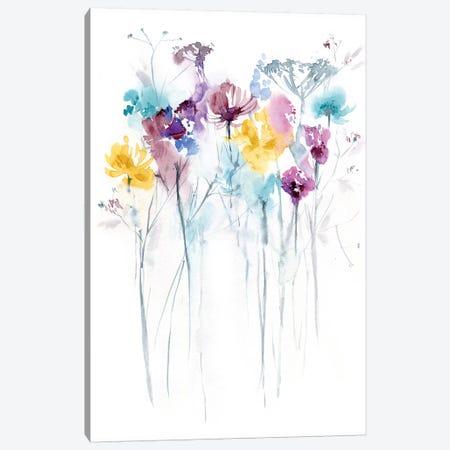 Field of Flowers II 3-Piece Canvas #LES81} by Lesia Binkin Canvas Print