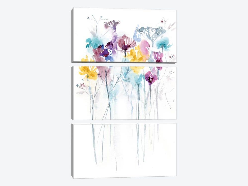Field of Flowers II by Lesia Binkin 3-piece Canvas Art