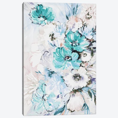 Pastel Bouquet Canvas Print #LES86} by Lesia Binkin Canvas Artwork