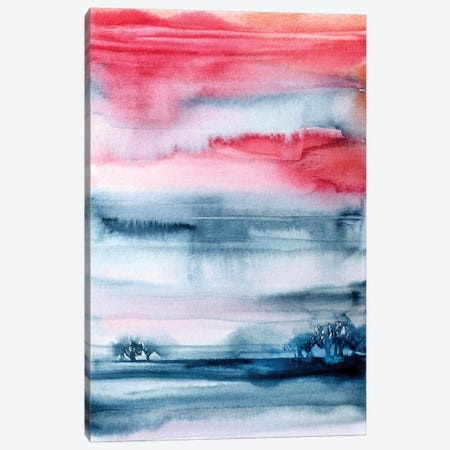 Summer Field Abstract Canvas Print #LES91} by Lesia Binkin Canvas Artwork