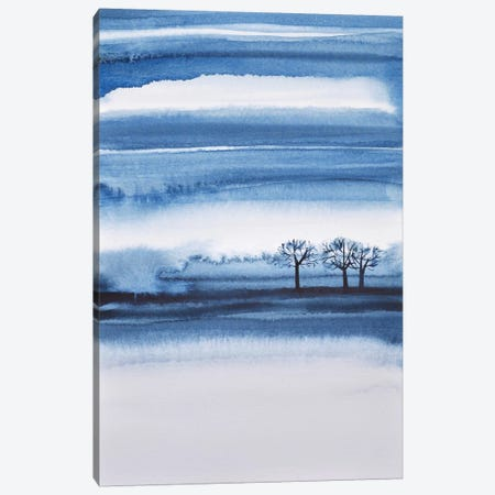 Winter Trees Abstract Canvas Print #LES94} by Lesia Binkin Art Print