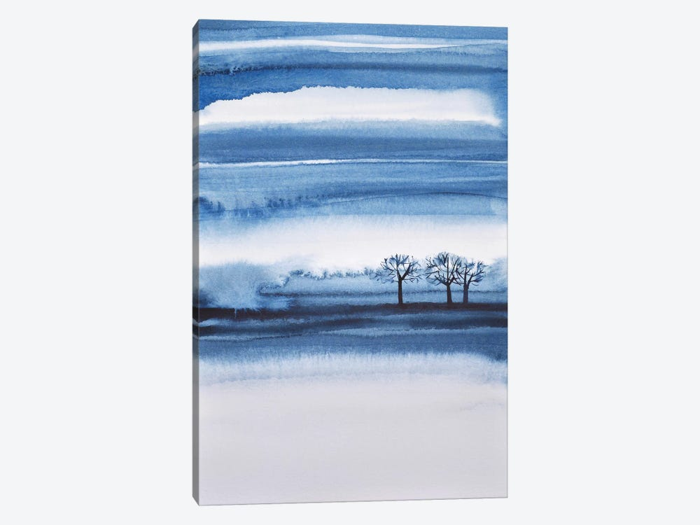 Winter Trees Abstract by Lesia Binkin 1-piece Canvas Artwork