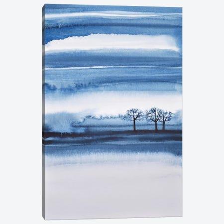 Winter Trees Abstract Canvas Print #LES94} by Lesia Binkin Art Print
