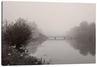 River Amper In Fog Canvas Art Print