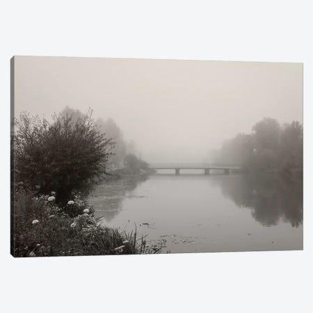 River Amper In Fog Canvas Print #LEW102} by Lena Weisbek Canvas Art Print