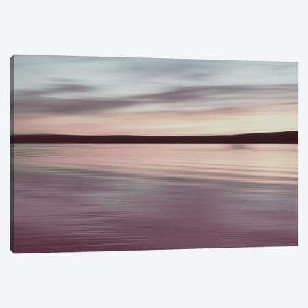 Horizon - Pink Mood Canvas Print #LEW65} by Lena Weisbek Canvas Art