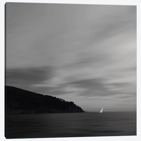 Sea, Clouds And A Boat 3-Piece Canvas #LEW82} by Lena Weisbek Canvas Print