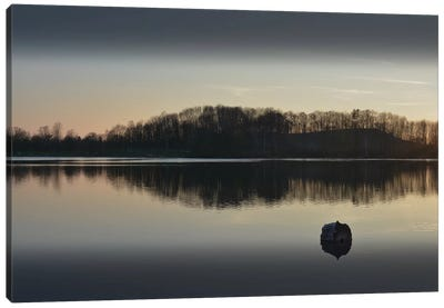 Silence At The Lake I Canvas Art Print