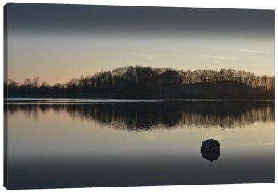 Silence At The Lake I Canvas Art Print