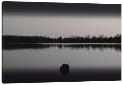 Silence By The Lake II Canvas Art Print