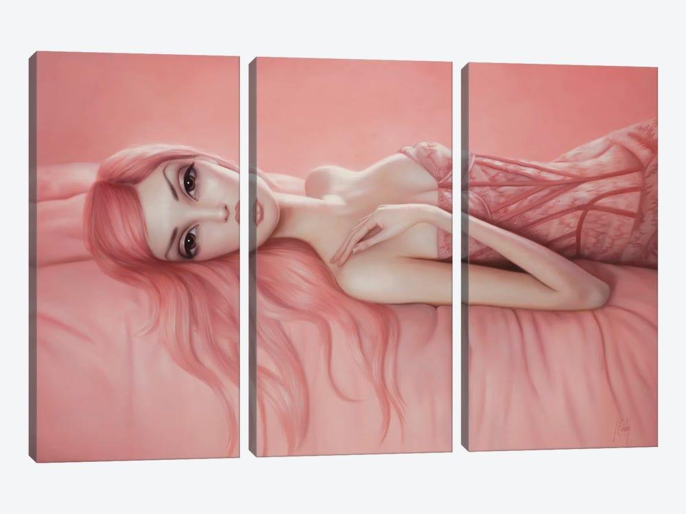Audrey by Lori Earley 3-piece Canvas Art Print