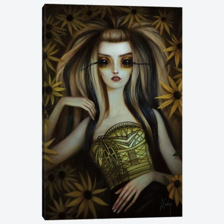 Black-Eyed Susan Canvas Print #LEY3} by Lori Earley Canvas Wall Art