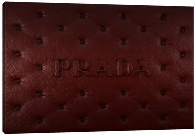Burgundy Prada Canvas Art Print