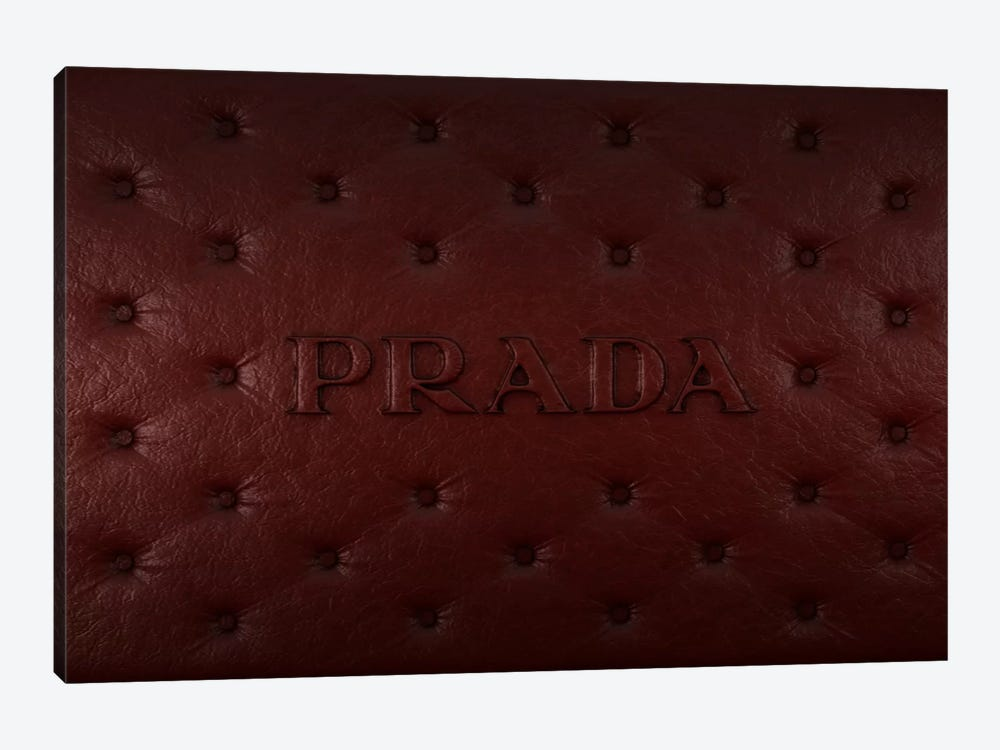 Burgundy Prada by 5by5collective 1-piece Canvas Wall Art