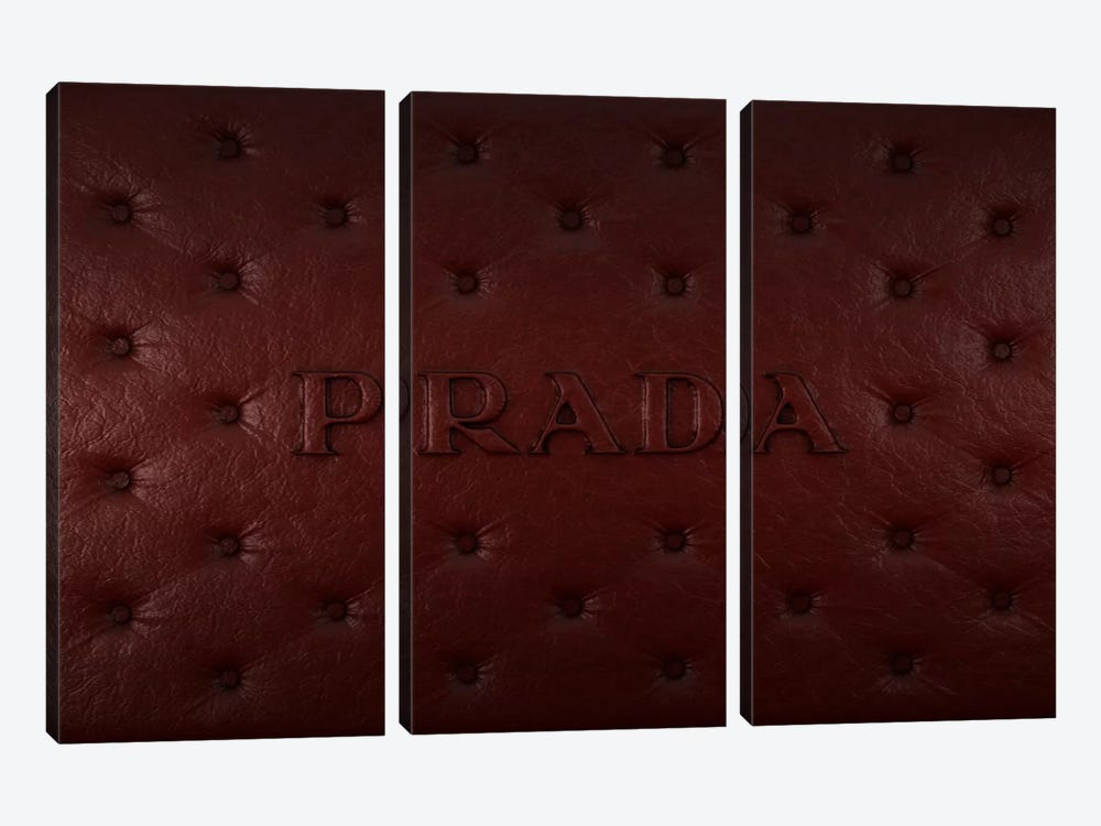 Burgundy Prada 3-piece Canvas Art