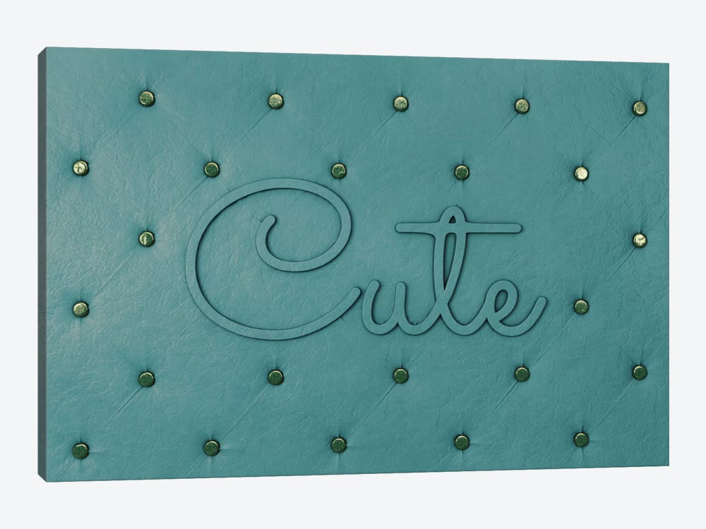 Cute Teal by 5by5collective 1-piece Canvas Wall Art