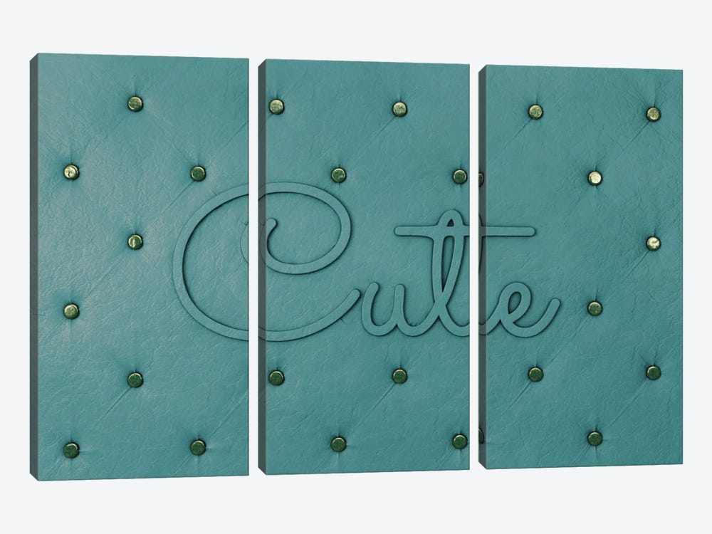 Cute Teal by 5by5collective 3-piece Canvas Art